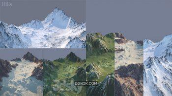 دانلود مدل سه بعدی کوه