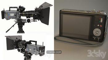 دانلود مدل سه بعدی لوازم عکاسی