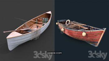 دانلود مدل سه بعدی کشتی و قایق