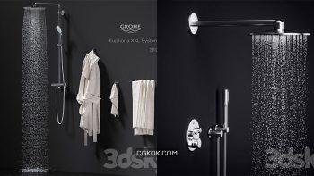 دانلود مدل سه بعدی دوش حمام