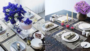 دانلود 60 مدل سه بعدی میز غذا از Pro 3DSky – مجموعه اول