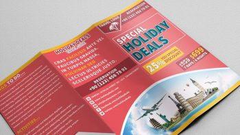 دانلود فایل لایه باز بروشور تور گردشگری Travel Trifold Brochure 01