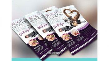 دانلود فایل لایه باز تراکت سالن زیبایی Beauty Salon Flyer