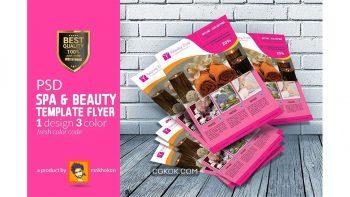 دانلود فایل لایه باز تراکت سالن اسپا Beauty Spa Flyer