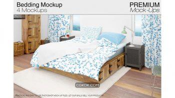 دانلود موکاپ ست رو تختی Bedding Mockup Set