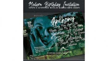 دانلود فایل لایه باز کارت دعوت جشن تولد Birthday Invitation