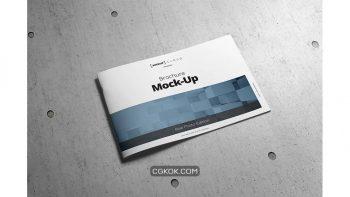 دانلود موکاپ بروشور Brochure Mock-Up / A4 Landscape