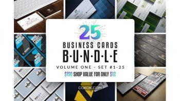 دانلود فایل لایه باز کارت ویزیت Business Cards Bundle – Vol 01
