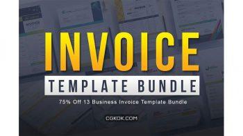 دانلود فایل لایه باز فاکتور Business Invoice Template