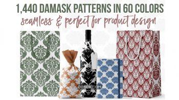 دانلود پترن Damask Patterns in 60 Colors