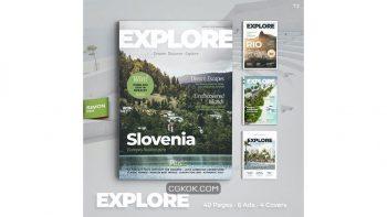 دانلود قالب ایندیزاین مجله Explore Magazine