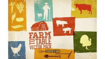 دانلود وکتور گرافیکی مزرعه Farm To Table Vector Pack Volume 1
