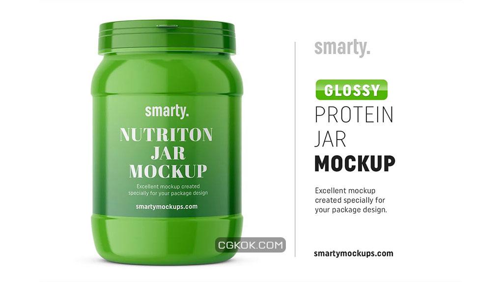 موکاپ بطری پروتئین