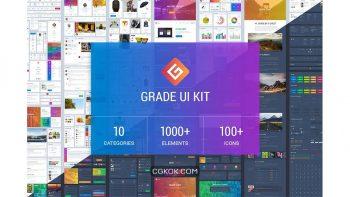 دانلود فایل لایه باز وب سایت Grade UI Kit