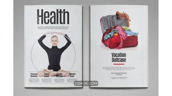 دانلود قالب ایندیزاین مجله سلامت Health Magazine Template