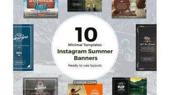 دانلود فایل لایه باز اینستاگرام Instagram Summer Banners
