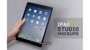 دانلود موکاپ آیپد iPad Air Studio Mockups