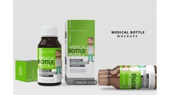 دانلود موکاپ قوطی دارو Medicine Bottle Mockup
