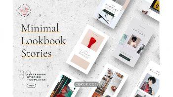 دانلود فایل لایه باز استوری اینستاگرام به سبک مینیمال Minimal Lookbook Instagram Stories