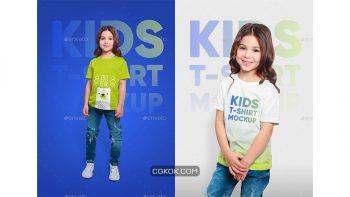 دانلود موکاپ تیشرت بچه گانه Mixed Kids T-Shirt Mockups
