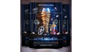 دانلود فایل لایه باز پوستر فیلم Movie Premiere Flyer