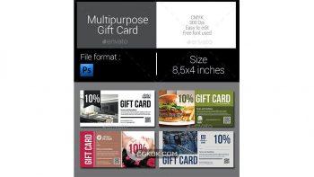 دانلود فایل لایه باز کارت تخفیف Multipurpose Gift Card