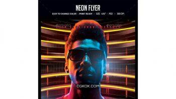 دانلود فایل لایه باز آگهی Neon Flyer