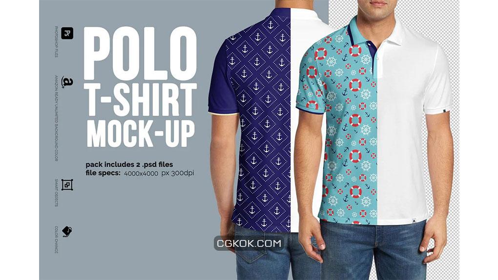 موکاپ تیشرت Polo shirt Mock-Up