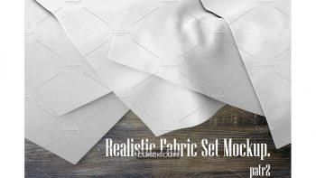 دانلود موکاپ پارچه Realistic Fabric Set MockUp 2
