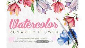 دانلود کلیپ آرت و پترن گل های رمانتیک Romantic Flowers