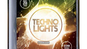 دانلود فایل لایه باز کاور سی دی Techno Lights CD Album Artwork