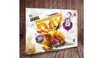 دانلود فایل لایه باز تراکت روز شکرگزاری Thanksgiving Day Flyer
