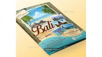 دانلود فایل لایه باز تراکت آژانس مسافرتی Travel Flyer + Business Card