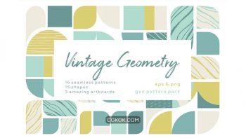 دانلود پترن هندسی Vintage geometry patterns collection