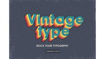 دانلود افکت متن Vintage Text Effects V2