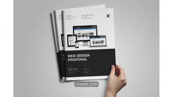 دانلود قالب ایندیزاین پروپوزال Web Design Proposal