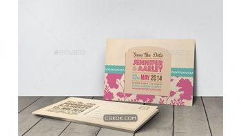 دانلود فایل لایه باز کارت دعوت عروسی Wedding Invitation Post Card