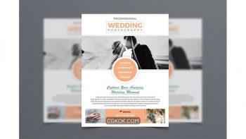 دانلود فایل لایه باز تراکت آتلیه عروسی Wedding Photography Flyer