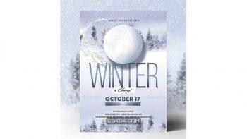 دانلود فایل لایه باز تراکت ایونت زمستانی Winter Event Flyer